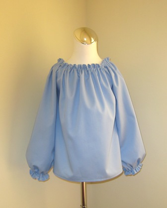 Custom Boutique light Blue Long Slevee Peasant Top 12M To 7