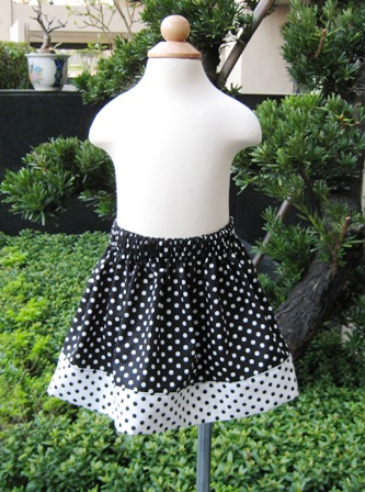 Custom Boutique Black and White Polka Dots Skirt-supplies,commercial,sewing,fabric,pattern,handmade,children custom,dress,pants,applique,vintage,tutorial knitting,neddles,owls,japanese,kawaii,fabric,cotton fabric,cotton,ribbon,bows,hair clips,hair accessories,toddles,baby shower,girl,summer,tunic,wallet,purse,buttons,thread,international shipping,free shipping,flat rate