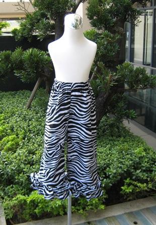 Custom Boutique Zebra Ruffles pant