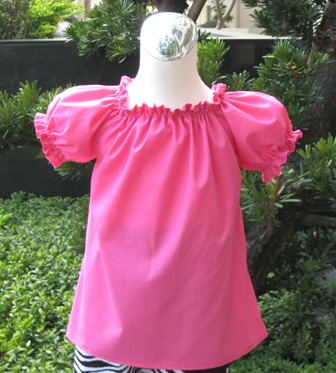 Custom Boutique Hot Pink Peasant Top 12M To 7