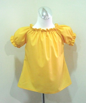 CUSTOM BOUTIQUE YELLOW PEASANT TOP 12M TO 7
