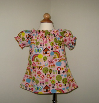 CUSTOM BOUTIQUE BUTTERFLIES PEASANT TOP 12M TO 7