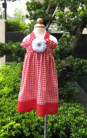 CUSTOM BOUTIQUE RED GINGHAM HALTER DRESS-supplies,commercial,sewing,fabric,pattern,handmade,children custom,dress,pants,applique,vintage,tutorial knitting,neddles,owls,japanese,kawaii,fabric,cotton fabric,cotton,ribbon,bows,hair clips,hair accessories,toddles,baby shower,girl,summer,tunic,wallet,purse,buttons,thread,international shipping,free shipping,flat rate