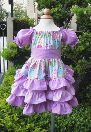 Custom Boutique Triple Ruffles Fairy Tale Peasant Dress..-supplies,commercial,sewing,fabric,pattern,handmade,children custom,dress,pants,applique,vintage,tutorial knitting,neddles,owls,japanese,kawaii,fabric,cotton fabric,cotton,ribbon,bows,hair clips,hair accessories,toddles,baby shower,girl,summer,tunic,wallet,purse,buttons,thread,international shipping,free shipping,flat rate