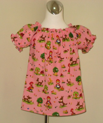 Custom Boutique Little Red Riding Hood Peasant Top 12M To 7