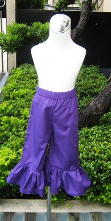 Purple Ruffle Pant