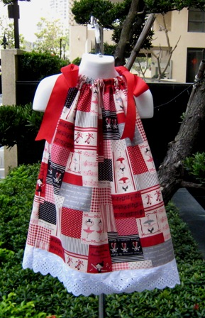 Red Ballerina Pillowcase Dress