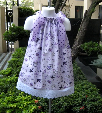 Ballerina Purple Pillowcase Dress