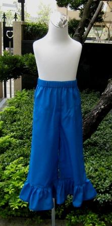 Blue Ruffle Girl Pant