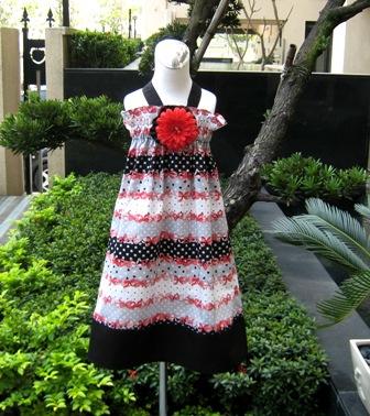 Red Bows And Polka Dots Halter Dress