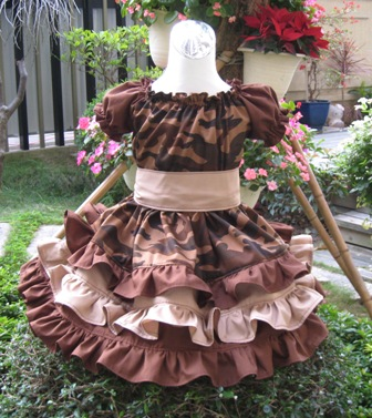 Camouflage Brown Triple Ruffle Peasant Dress Custom Boutique-handmade,dress,peasant tops,ruffles pant,pageant dress,supplies,commercial,sewing,fabric,pattern,children custom,dress,pants,applique,vintage,tutorial knitting,neddles,owls,apanese,kawaii,fabric,cotton fabric,cotton,ribbon,bows,hair clips,hair accessories,toddles,baby shower,girl,summer,tunic,wallet,purse,buttons,thread,international shipping,free shipping,flat rate
