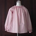 Long Sleeve Red and White Polka Dots Top