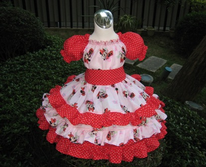 Minnie Mouse Polka Dots Triple Ruffle Peasant Dress-Minnie mouse ruffle dress, pink and red girl dress, triple ruffle dress, Minnie dress, church girl dress, pink and red girl dress, girl pink dress, girl red dress, summer dress, fall dress, winter dress, back to school girl dress