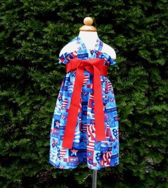 Patriotic Halter Dress-handmade,dress,peasant tops,ruffles pant,pageant dress,supplies,commercial,sewing,fabric,pattern,children custom,dress,pants,applique,vintage,tutorial knitting,neddles,owls,apanese,kawaii,fabric,cotton fabric,cotton,ribbon,bows,hair clips,hair accessories,toddles,baby shower,girl,summer,tunic,wallet,purse,buttons,thread,international shipping,free shipping,flat rate