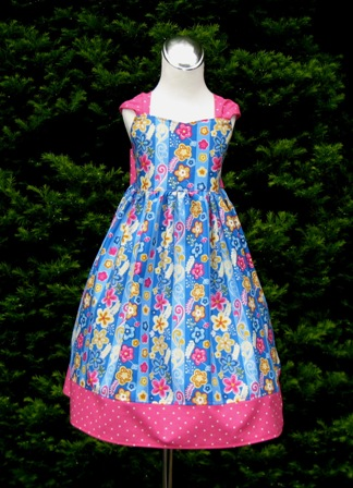 Enchanted Pink And Yellow Flowers Dress