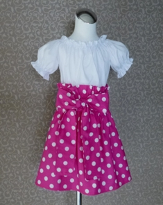 Hot Pink Polka Dots Skirt-handmade,dress,peasant tops,ruffles pant,pageant dress,supplies,commercial,sewing,fabric,pattern,children custom,dress,pants,applique,vintage,tutorial knitting,neddles,owls,apanese,kawaii,fabric,cotton fabric,cotton,ribbon,bows,hair clips,hair accessories,toddles,baby shower,girl,summer,tunic,wallet,purse,buttons,thread,international shipping,free shipping,flat rate