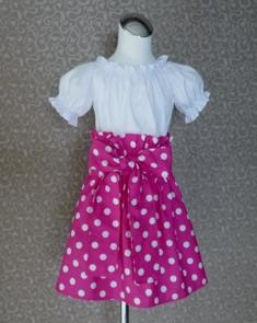 Hot Pink Polka Dots Skirt