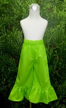 Green Ruffle Girl Pant