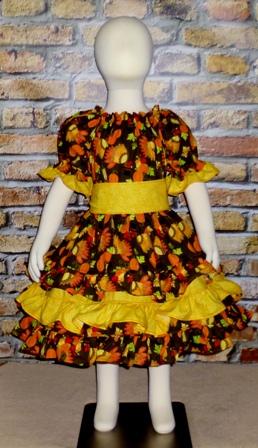 Autumn Inspiration Triple Ruffle Dress Triple Ruffle Peasant Dress
