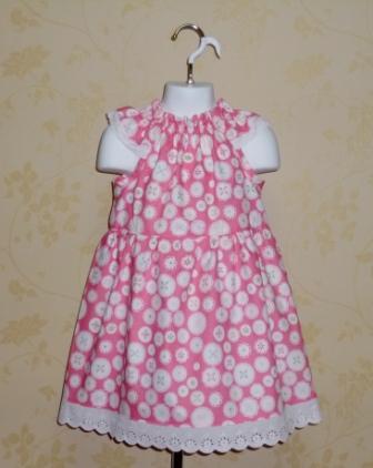 Pink Buttons Dress-halter dress,twirly,red,white,summer dress,disney dress, ruffle dress,retro,skirt,ooak,ooc,pageant dress,handmade,custom orders,blue,polka dots dress,bow dress,ruffle dress