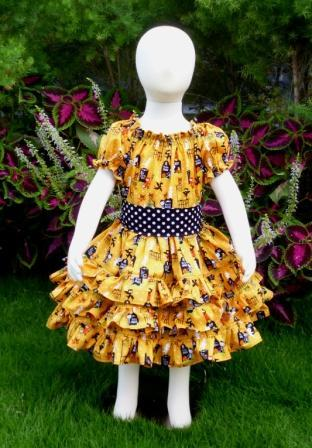 Halloween triple ruffle dress-halter dress,twirly,red,white,summer dress,disney dress, ruffle dress,retro,skirt,ooak,ooc,pageant dress,handmade,custom orders,blue,polka dots dress,bow dress,ruffle dress,oct 31,halloween,scary dress.