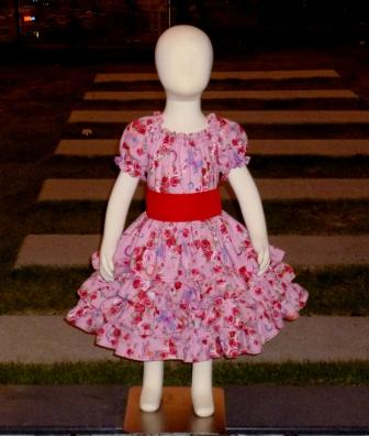 Red roses and butterflies triple ruffle dress-halter dress,twirly,red,white,summer dress,disney dress, ruffle dress,retro,skirt,ooak,ooc,pageant dress,handmade,custom orders,blue,polka dots dress,bow dress,ruffle dress
