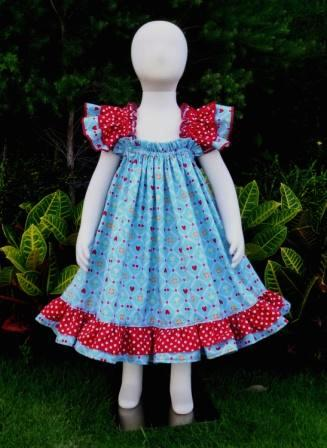 Berries and flowers baby doll style dress-halter dress,twirly,red,white,summer dress,disney dress, ruffle dress,retro,skirt,ooak,ooc,pageant dress,handmade,custom orders,blue,polka dots dress,bow dress,ruffle dress