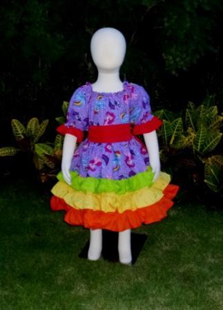 My Little Pony triple Ruffle Peasant Dress-My Little Pony dress, ruffle dress, church girl dress, birthday dress,pony dress, infant ruffle dress, toddler dress,purple dress