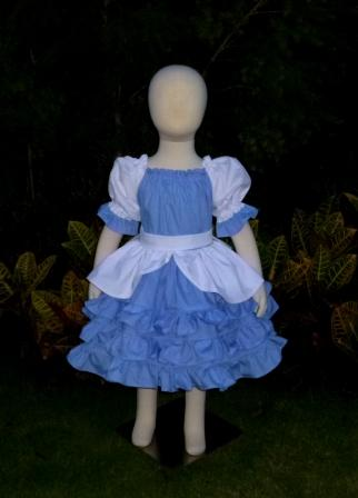 Cinderella inspired Peasant Dress-halter dress,twirly,red,white,summer dress,disney dress, ruffle dress,retro,skirt,ooak,ooc,pageant dress,handmade,custom orders,blue,polka dots dress,bow dress,ruffle dress