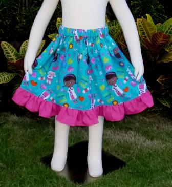 Doc Mcstuffins Skirt-Cinderella dress.twirly skirt,disney dress,OOC,OOAK,ruffle dress,toddler dress,summer dress,flower girl dress,back to school,blue dress,blue outfit,infant dress,kid top,handmade girl dress,made to order dress,custom made kid clothes,red dress,pink,big bow