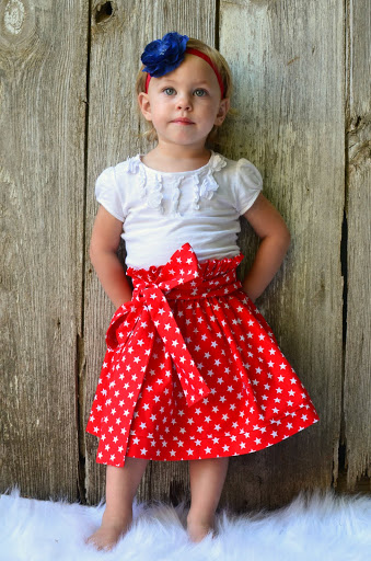 Red And White Skirt-patriotic dress,skirt,twirly skirt,ooak,kawaii,ooc,pageant dress,red,white,stats,back to school,summer dress