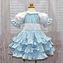 Blue and White Ruffle Dress